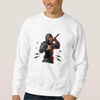 svart ninjacartoon. sweatshirt