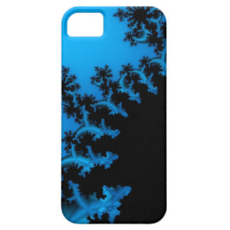 svart och blåttfractal iPhone 5 Case-Mate fodraler