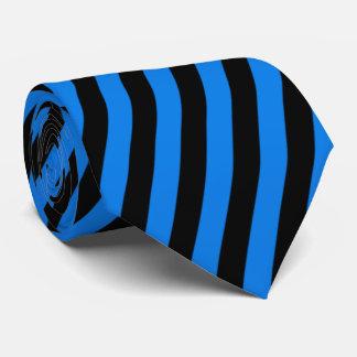 Svart- och blåttrandar slips