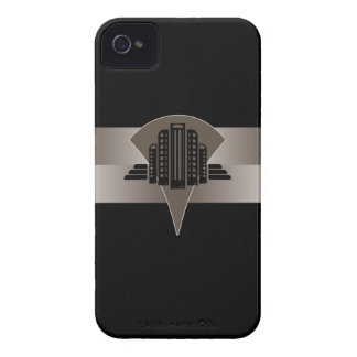Svart och brons art décotorn iPhone 4 cover