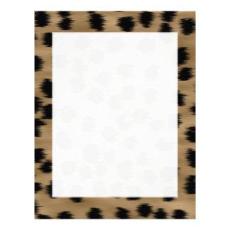 Svart och brun Cheetahtryckmodell Brevhuvud