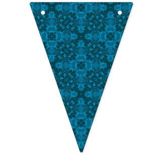 Svart och för blåttvintageKaleidoscope för Bunting Vimplar