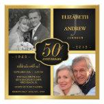 Svart- och för guld 50th bröllopsdag tillkännagivanden