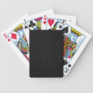 Svart- och grå färgmoustachemönster spelkort