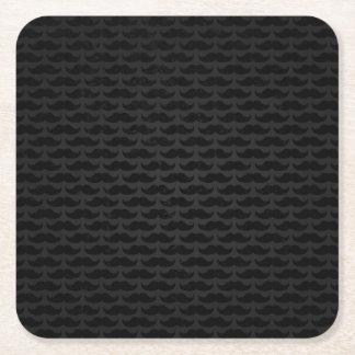 Svart- och grå färgmoustachemönster underlägg papper kvadrat