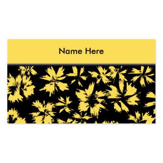 Svart och gula Flowers. Visitkort