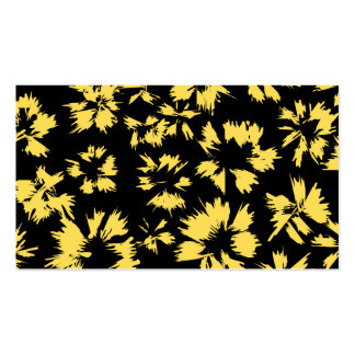 Svart och gula Flowers. Visitkort Mall