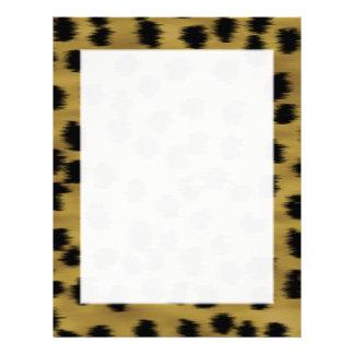 Svart och guld- brun Cheetahtryckmodell Brevhuvud