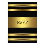 Svart och guld- OSA för elegant Personliga Inbjudningskort