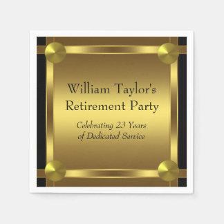Svart och guld- pension för elegant servetter