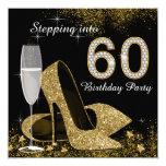 Svart och guld som kliver in i födelsedagsfest 60 tillkännagivanden
