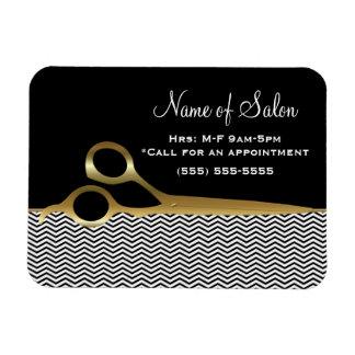 Svart och guld- sparrehårsalong för elegant magnet