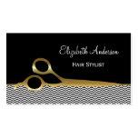 Svart och guld- sparrehårsalong för elegant visitkort