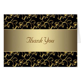 Svart och guld- tack för elegant OBS kort