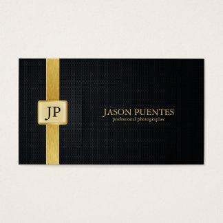 Svart och guld- yrkesmässig fotograf för elegant visitkort