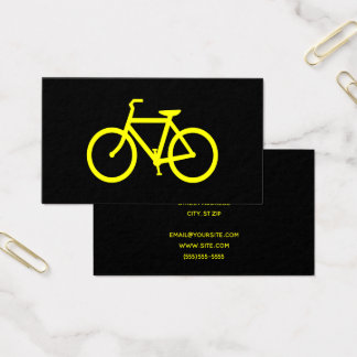 Svart- och gultcykel visitkort