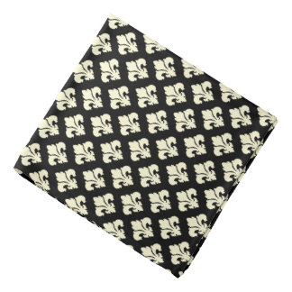 Svart och kräm- fleur de lis scarf