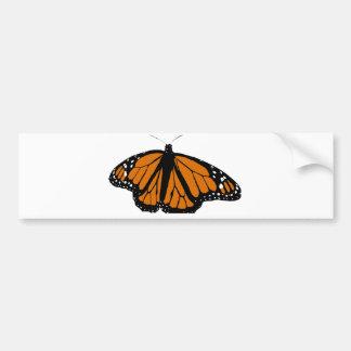 Svart och orange monarkfjäril bildekal