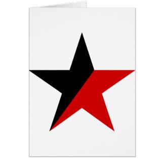 Svart och röd stjärnaAnarcho-Syndicalism anarkism Hälsningskort