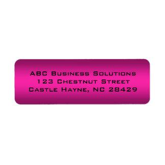Svart och rosa affärsreturadressklistermärke returadress etikett