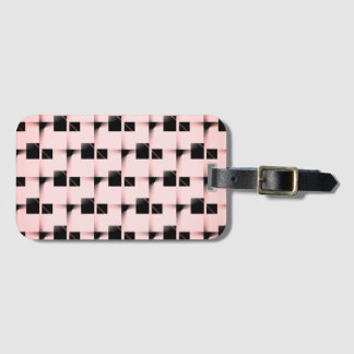 Svart- och rosamönster bagagebricka