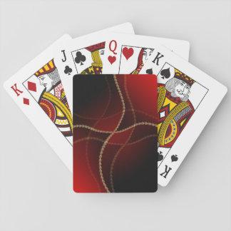 Svart och rött casinokort