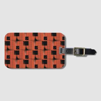 Svart och rött mönster bagagebricka