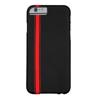 Svart och rött tävlings- fodral för randiPhone 6 Barely There iPhone 6 Fodral