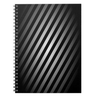 Svart och silver görad randig anteckningsblock/jou anteckningsbok