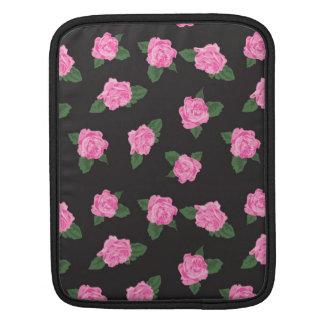 Svart och stor rosa rosiPad/sleeve för iPad 2 Sleeve För iPads