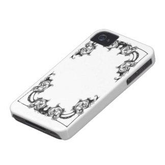 SVART OCH WHIT för blackberry boldfodral-VINTAGE iPhone 4 Case-Mate Skal