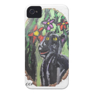 Svart panter och blommor och djungel iPhone 4 fodral