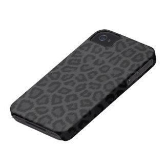 Svart pantertryck Case-Mate iPhone 4 skal