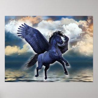 Svart Pegasus affisch