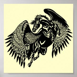 svart pegasus poster