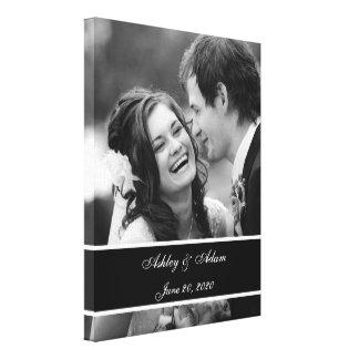 Svart personlig för vitbröllopfoto canvastryck