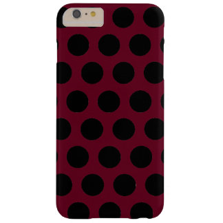 Svart polka dots barely there iPhone 6 plus skal