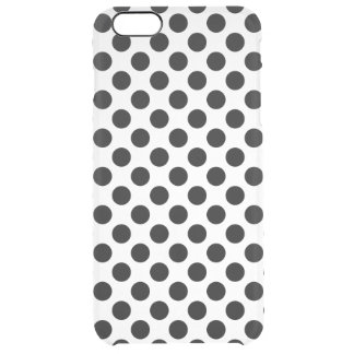 Svart polka dots clear iPhone 6 plus skal