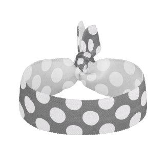 Svart polka dots för vit - Hårsnodd