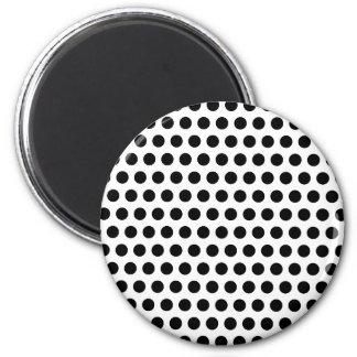 Svart polka dots magnet