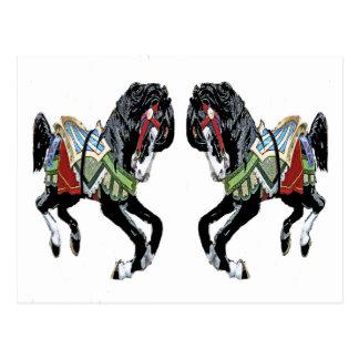Svart ponnyer vykort