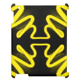 Svart Popart för gult för neon för CricketDiane iPad Mobil Fodral