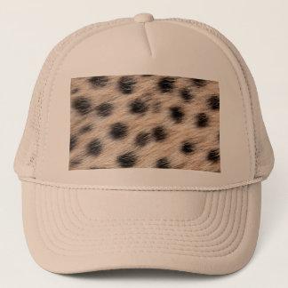 svart prickig Cheetahpäls eller flår Keps