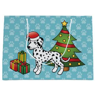 Svart prickig Dalmatian julhund