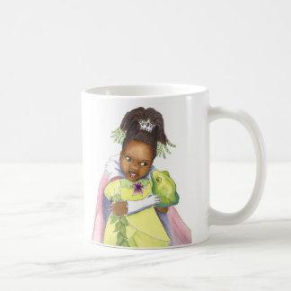 Svart Princess & grodaflickamuggen Kaffemugg