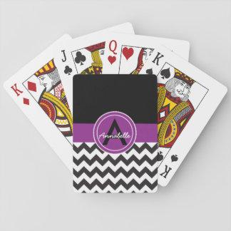 Svart purpurfärgad sparre spel kort