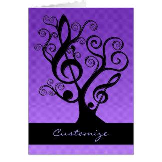 Svart & purpurfärgat kort för träd för