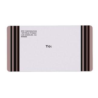 svart rand på purpurfärgad affär fraktsedel