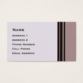 svart rand på purpurfärgad affär visitkort