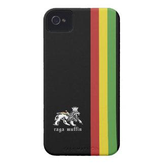 Svart Rasta randblackberry fodral iPhone 4 Case-Mate Skydd